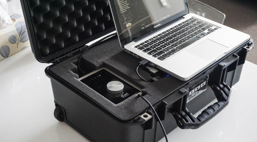 travel music studio pelican case